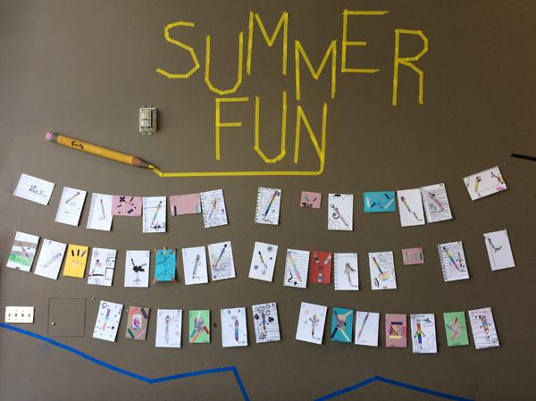 Art Display at Summer Fun!